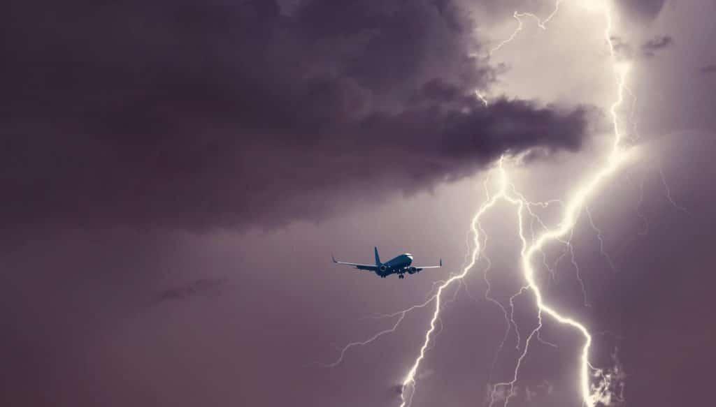 Avion éclair Orange