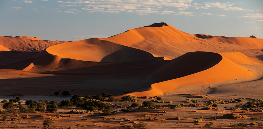 Beau paysage Hidden Vlei en Namibie Afrique