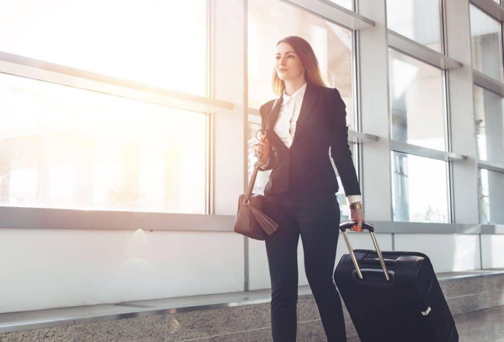 Femme Affaire Aeroport