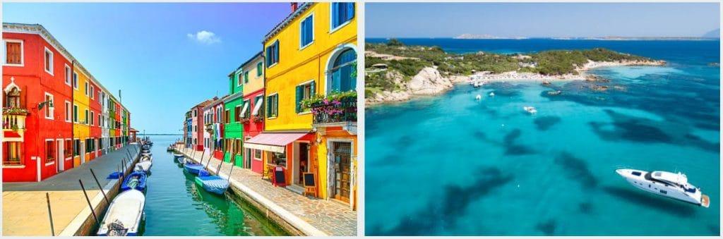 Iles Italiennes sicile et sardaigne