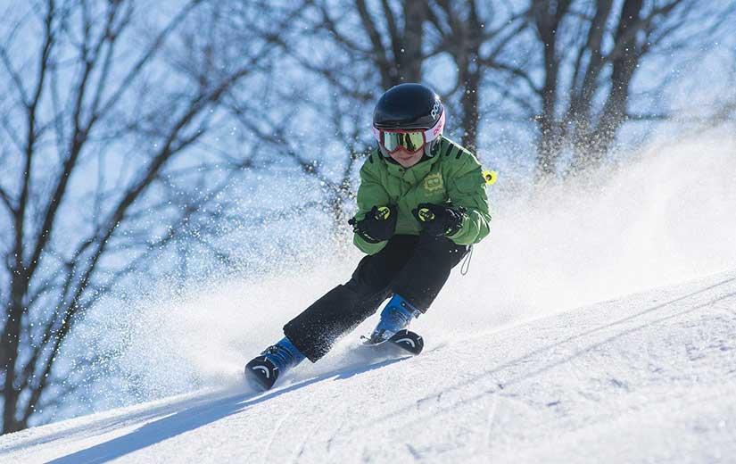 Skieur Pistes Noire