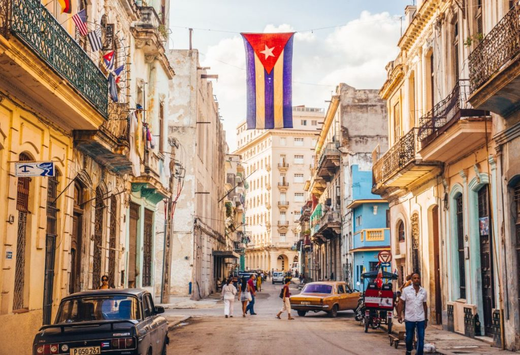 Cuba La Havane Drapeau Cubain