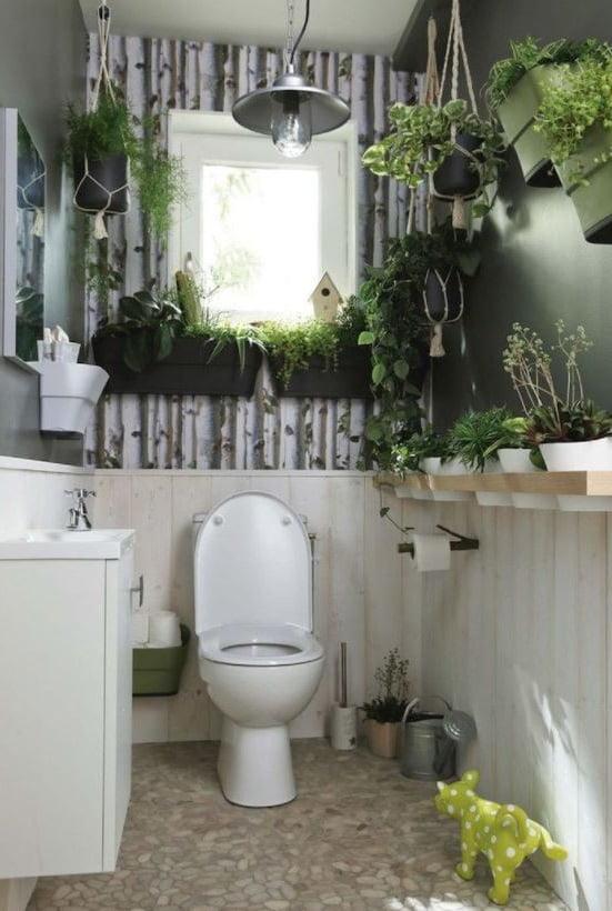 Déco Toilettes Végétal Zen