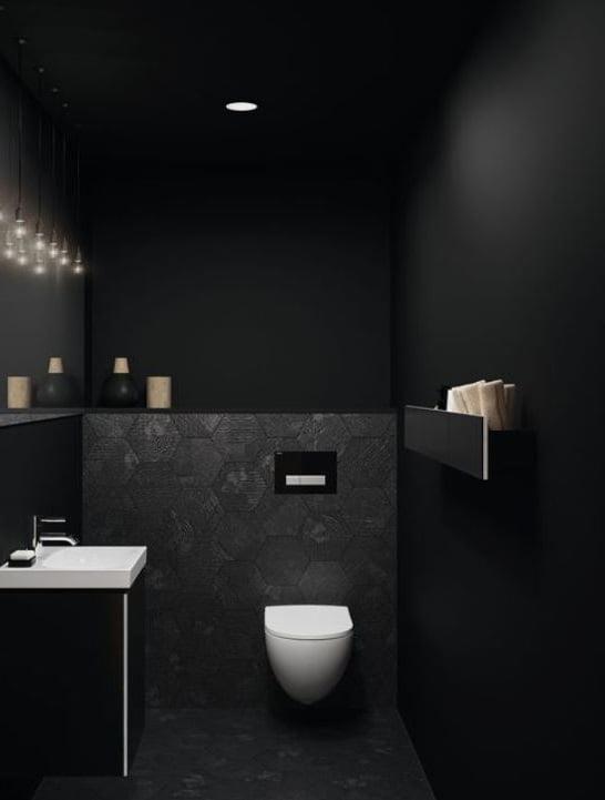 Toilettes Noires Et Blanches