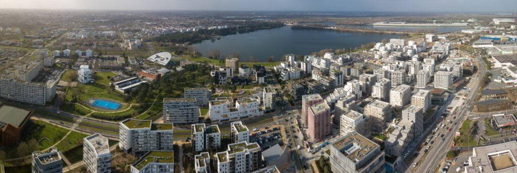 Vue aérienne d'un programme immobilier à Bordeaux