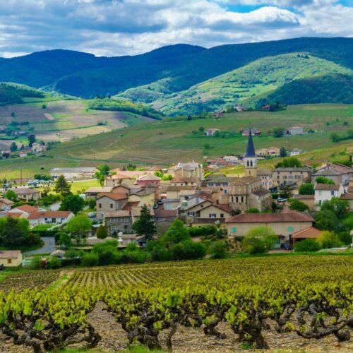 Village Autour De Lyon Dans Le Beaujolais
